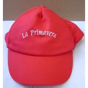 La Primavera Red Baseball Cap Hat   One size fits all