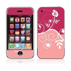 Apple iPhone 2G Vinyl Decal Sticker Skin   Pink Abstract