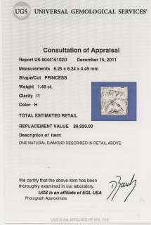 Vintage Antique Certified 2ct Diamond Sapphire Platinum Art Deco