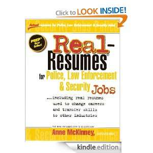 Real Resumes for Police, Law Enforcement & Security Jobs (Real Resumes
