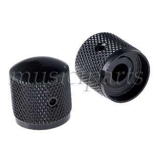 10 * Dome brass Knob Screw style Solid Shaft black speed knob for
