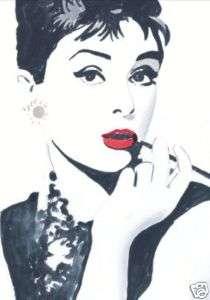 Shirt Iron On Transfer 5X7  Audrey Hepburn