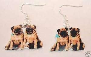 Pug Dog earrings pugs,animals,dogs,fashion jewelry,cute