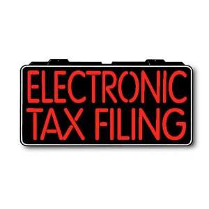 LED Neon Electronic Tax Filing Sign