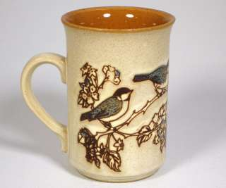 Pottery Products Coffee Mug Cup Blue Birds Brown Made in England