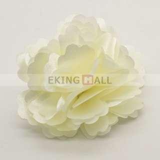 Korean Stylish Silky Rose Flower Hat Hair Clip Brooch Pin 5 Colors