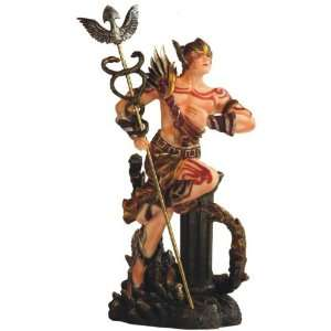 Greek God Hermes with Caduceus Scepter Mythology Figurine