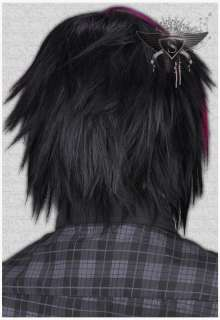 GW405 Animation Games Costume EMO Straight Men Wig New