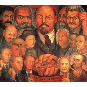 Oil Reproduction   Diego Rivera   32 x 28 inches   Proletarian Unity