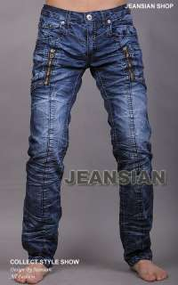 3mu Mens Designer Jeans Pant Denim Stylish Washed Pocket W28 30 32 34