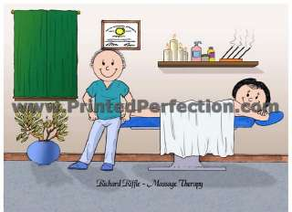 MASSAGE THERAPIST   Custom Cartoon Gift, Many Options for