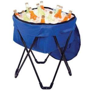Portable Folding Cooler Ice Chest w/ Carry Bag 084358044886