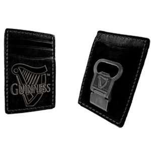 Guinness Bottle Opener Money Clip Wallet:  Sports