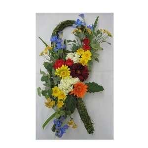 Spring Door Silk Flower Swag: Home & Kitchen