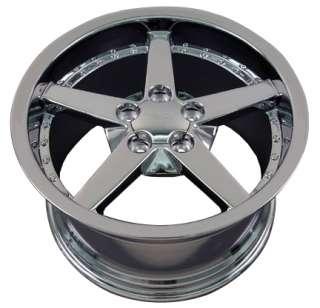 19 Rims Fit Corvette C6 Deep Chrome Wheel 19x10