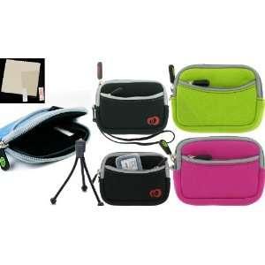 3n1 Combo Kit   Mini Neoprene Sleeve Case Olympus Stylus
