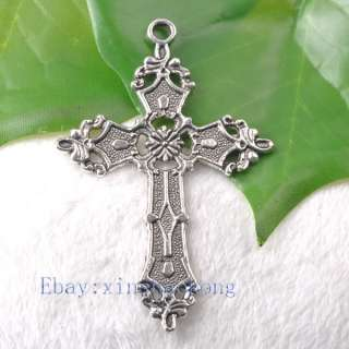 FREE SHIP 20pcs Tibetan Silver Exquisite Cross Charm Pendents KP1177