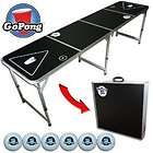 NEW Go Pong 8 Foot Portable Folding Beer Pong Flip Cup Table Drinking