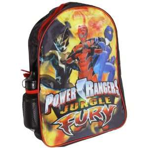 Power Rangers Jungle Furry Backpack Red and Black School
