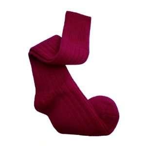 Alpaca Knee High Socks Ribbed Knit M Womens Fuxia Toys