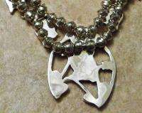 Native Zuni Sterling Turquoise Gems OWL Squash Blossom Necklace Set