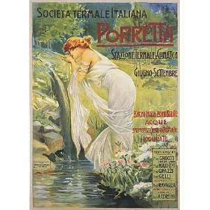 GIRL DRINKING WATER PORRETTA TRAVEL TOURISM EUROPE ITALY