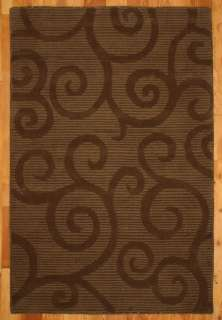 Monza 8x10 Brown Hand Woven Wool Rugs Carpet NEW