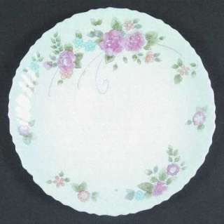 Arcopal France Pink Floral Swirl Rosalie Dinner Plate
