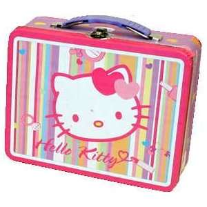 HELLO KITTY Tin/Metal Lunch Box GLAMOUR & HEARTS Office