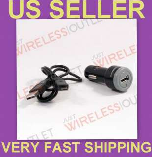 CAR DC CHARGER ADAPTER+USB CABLE FOR  KINDLE FIRE BLACK