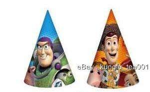 Toy Story Birthday Party Glittered Party Hats Caps x6
