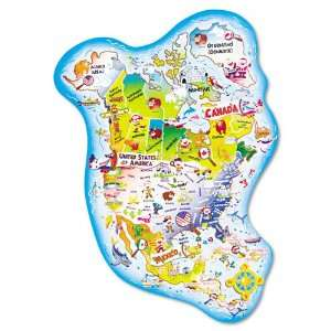 Chenille Kraft® Giant North America Map Floor Puzzle