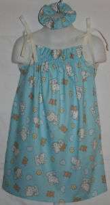 NEW Hello Kitty Blue Custom Bears Pillowcase Dress