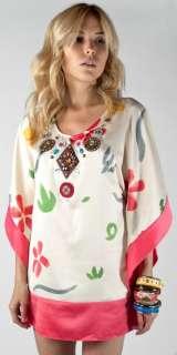 New Meghan Fabulous Sunshine Tunic Top Beaded Shirt
