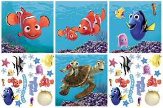BiG 44 FINDING NEMO Kids Room WALL ART Decor+Stickups