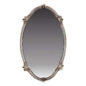 Quoizel Lombard 35 Inch Large Mirror, Statuary Silver
