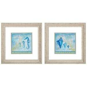 Listening and Warm Sand 25 Square Framed Wall Art