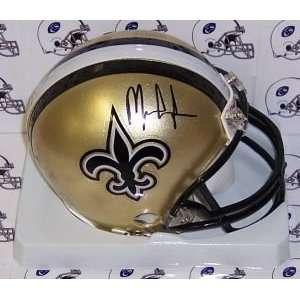 New York Giants Mark Ingram Hand Signed Saints Mini Helmet