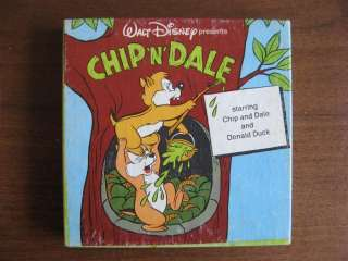 Vintage 8mm film Walt Disney Chip N Dale Old Movie Fun