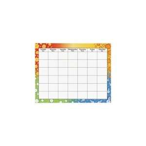 Trend Large Wipe Off Blank Calendar Chart: Office Products
