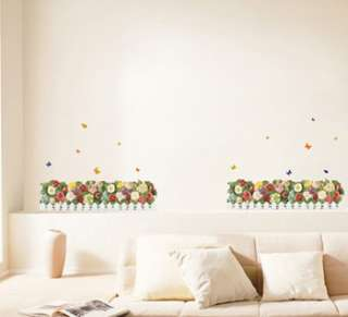 flower garden wall decor stickers mural decal art graphic removable