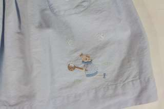 Vtg Boutique Embroidered Jeanine Johnsen Girls Dress 2T