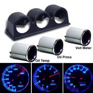 / Oil Pressure / Volt Meter + Dash Pod Mounting Cup Honda Chevy Ford