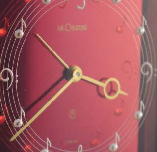 Jaeger Lecoultre Watch Co. PINK MUSICAL ALARM RECITAL Clock MINT