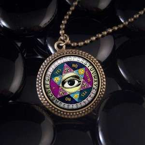 Seeing Eye Ouija Board Occult Pendant Necklace 517 RF
