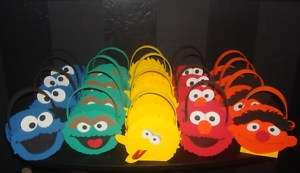 Sesame street Elmo Ernie Oscar Monster Bird party bag