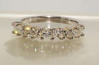 2500 .80CT 9 STONE PRINCESS CUT DIAMOND WEDDING BAND SIZE 6