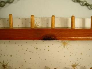 Vtg. 50s Atomic Speckled Starburst SEWING SPOOL RACK 36 Holder Wall