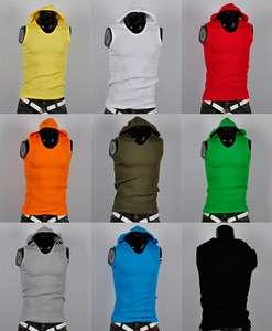 korea_pop mens sleeveless hoodie gym athletic tank top shirts hoody