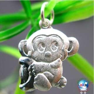 925 Sterling Silver Monkey Zodiac Charm Pendant SMG97